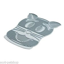 NEW Rubber Cat Litter Tray Toilet Clean Mat Grey