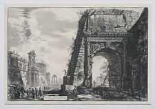 GIOVANNI B. PIRANESI Original Impression ARCH OF TITUS Etching c1770