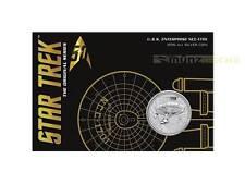 1 $ Dollar Star Trek U.S.S. Enterprise NCC-1701 Tuvalu 1 oz Silber Blister 2016