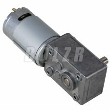 33 RPM High Torque 12 Volt Electric Geared Motor Vertically 136 Reduction Ratio