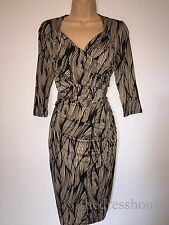 BNWT Savoir Confident Curves Secret Support Brown Wrap Effect Dress Size 12p