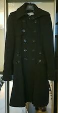 Karen Millen Black Wool Cashmere Mix Military Coat Size 12