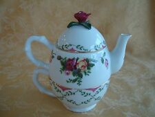 Royal Albert OLD COUNTRY ROSES Tea Service for One Pot Cup New in Box 2004