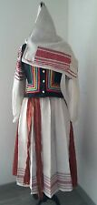 COMPLETED ANTIQUE AUTHENTIC HANDMADE ARCHAIC EMBROIDERED COSTUME POLISSYA region