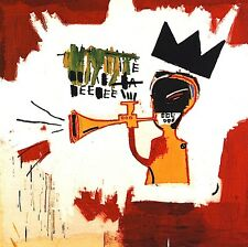 "Jean-Michel Basquiat ""Trumpet"" HD print on canvas huge wall picture 24x24"