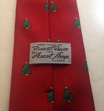Robert Talbott For The Ascot Shop Christmas Tree Tie