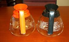 2 Pk - 12 Cup Commercial Coffee Pots/Carafes/Decanters for Bunn - Regular&Decaf