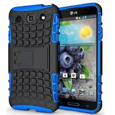 BLUE TPU GRENADE GRIP RUGGED BOX HARD CASE COVER STAND FOR LG OPTIMUS G PRO E980