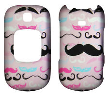 Pink Mustach  for Samsung Gusto 2 ,II U365 Rubberized  Case Cover