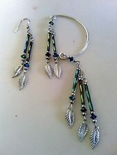 VINTAGE EAR CUFF AND PIERCED EARRING IN STAINLESS STEEL