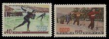 Russia / Sowjetunion 1952 - Mi. Nr. 1619-1620 ** - MNH -  Wintersport