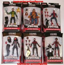 "MARVEL LEGENDS 6 "" AMAZING SPIDERMAN WAVE 6 SET OF 6 SPACE VENOM BAF In Stock"