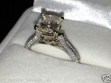 2.2CT NATURAL CUT DIAMOND SI1/F SOLITAIRE ENGAGEMENT RING SOLID 14CT WHITE GOLD