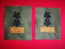 """Vietnam War Pair Of ARVN Army LT COLONEL Rank """"TRUNG TA"""" Collar Patches"""