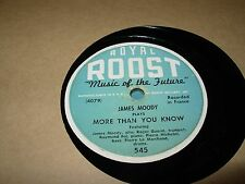 JAMES MOODY deep purple / more than you know - 78 rpm - roost -
