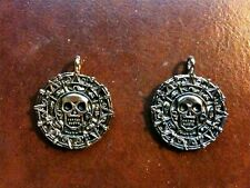 Pirates of The Caribbean, Cursed Aztec Coin Necklace, Solid Metal, Gold, Neat