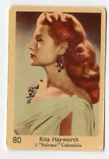 1950s Swedish Film Star Card Big Number set #80 American Actress Rita Hayworth