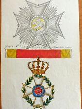 Großherzogtum Baden Carl Friedrich Orden Aquarell um 1830