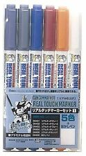 New Gundam Marker Real Touch Set 1 AMS112 (6 Markers)  Fostage Japan f/s