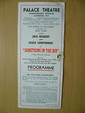 1943 PALACE Theatre Programme: EMILE LITTER'S SOMETHING IN THE AIR BY