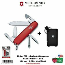 Victorinox SwissArmy Tinker + Carbide Sharpener Combo, Red #59112