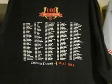 2014  KENTUCKY DERBY 140 BLACK PAST WINNERS TEE SHIRT- 3XL  WITH ORB ON IT