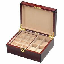 Makah Burlwood Veneer 4 Watch / 24 Cufflink Gents Valet Box by Hillwood RRP £280