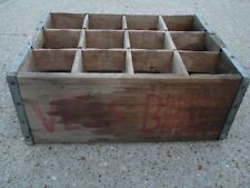 1966 Vess St Louis MO Billion Bubble Beverages Wood Crate Box good for decor