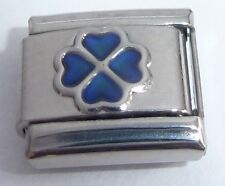 SHAMROCK MOOD STONE 9mm Italian Charm - Changes Colour Lucky Clover Good Luck