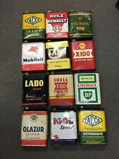lot de12 bidons huile collection divers old oil can collector automobilia