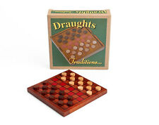 DRAUGHTS CLASSIC GAME WITH WOODEN BOARD & PIECES - BRAND NEW