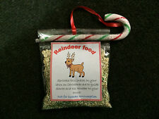 Reindeer food magic sparkle dust christmas eve tradition with candy cane