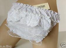 Cute White Frilly Ruffle Tennis Knickers and Skirt Set -  MEDIUM