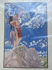 "Janlynn Counted Cross Stitch Indian Skyhunter #30-224 Richard Luce NIP 12"" x 18"""