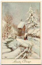 GRANTALIANO Paesaggio Alpino con Neve Vintage PC Circa 1930 Italy 10