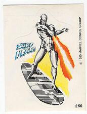 1980 Spanish Marvel Comics Superhero Terrabusi Trade Sticker #256 Silver Surfer
