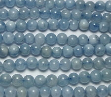 "15.5"" Strand NATURAL AQUAMARINE  4mm Round Beads"