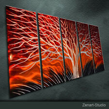 Original Metal Wall Art Handmade Painting Sculpture Indoor Outdoor Decor-Zenart