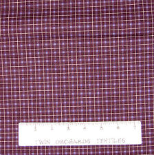 Calico Fabric - Plum Purple Gingham Plaid - Cotton YARD