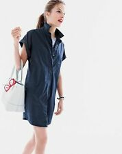 J Crew Dress Shirtdress Short Sleeve Cotton Black Size Petite XS PXS NWT $120