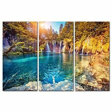 [Framed] Turquoise Water Sunny Nature Canvas Art Prints Picture Wall Home Decor