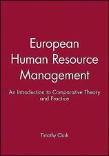European Human Resource Management: An Introduction to Comparative The-ExLibrary