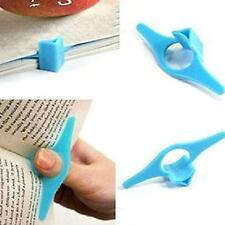 2Pcs Plastic Thumb Book Support Holder Book Marker Bookmark Random Color