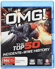 Wwe: Omg! The Top 50 Incidents In Wwe History (2016, Blu-ray NEUF)2 DISC SET