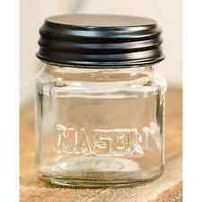 "Cute Country Rustic Small 3"" Glass Stubby Mason Jar With Lid"