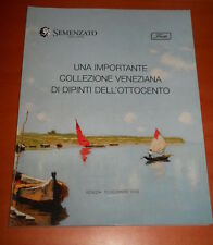 catalogo asta Semenzato - una importante collezione veneziana dell'ottocento