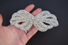 Rhinestone Applique-Wedding Trim- Baby Headband - Dance Costume DIY - USA SELLER
