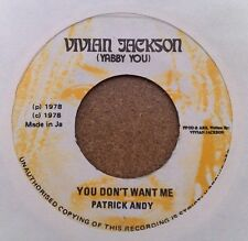 "YABBY YOU "" YOU DON'T WANT ME "" UNPLAYED FORMER STOCK COPY JAMAICAN 7"""