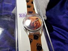 Unisex Zoobe Grizzley Watch w/ Citizen's Qtz Movement Art Wolf Designs RC-05
