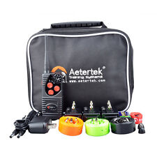 Aetertek New 216D Three Dog Pet Remote Shock Collar Control Training Waterproof